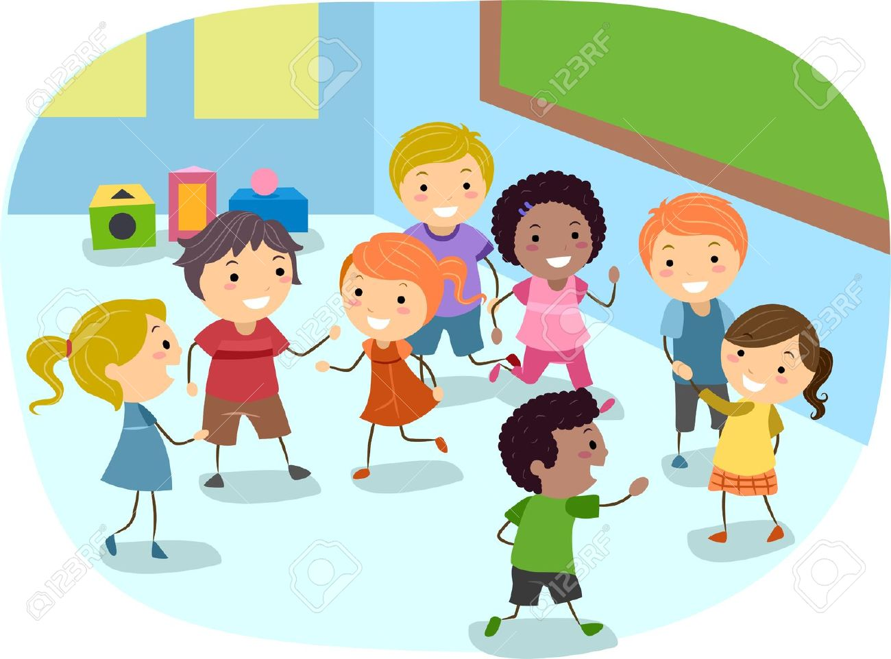 10132508-Illustration-of-Kids-Playing-in-the-Classroom-Stock-Illustration-children