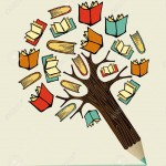 20602691-Reading-books-education-concept-pencil-tree-Vector-illustration-layered-for-easy-manipulation-and-cu-Stock-Vector